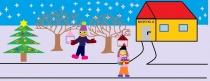 """""""Žiemos džiaugsmai ir rūpesčiai"""" Jurinta Kuktaitė, 4 klasė, Žiežmarių mokykla-darželis """"Vaikystės dvaras"""""""
