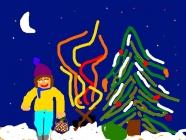 """Austėja Donėlaitė 4 kl. """"Kalėdinės dovanos žvėreliams"""" Naujosios Akmenės m-d """"Buratinas"""""""
