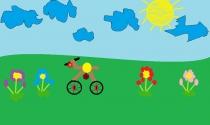 """""""Svajonių dviratis"""" Jokūbas Juška, 1 klasė, Kalvarijos sav. Jungėnų pagrindinė mokykla"""