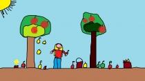 """""""Bėgsiu skinti obuoliukų"""" Mingailė Lisenkova, 3 klasė, Užvenčio Šatrijos Raganos gimnazija"""