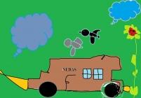 """""""Noriu automobilio"""" Nedas Savickas, 1 klasė, Užvenčio Šatrijos Raganos gimnazija"""