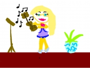 """""""Mažoji smuikininkė"""" Vakarė, 1 klasė, Alytaus """"Sakalėlio"""" pradinė mokykla"""