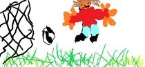 """""""Aš moku žaisti futbolą"""" Emilijus, 1 klasė, Radviliškio r. Šeduvos gimnazija"""