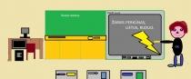"""""""Smagu mokytis su interaktyvia lenta"""" Edgaras Žioba, 3 klasė, Kretingos r. Salantų gimnazija"""