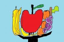 """""""Renkuosi valgyti daug vaisių"""" Danielius, 4 klasė, Kelmės r. Užvenčio Šatrijos Raganos gimnazija"""