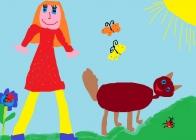 """""""Svajonių šuniukas"""" Mingailė Lisenkova, 4 klasė, Užvenčio Šatrijos Raganos gimnazija"""