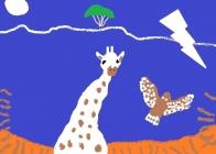 """""""Baltoji žirafa"""" Ieva Kalinauskaitė, 4 klasė, Kauno Jono Pauliaus II gimnazija"""