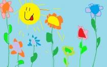 """""""Sodinsiu gėles, kad būtų gražu"""" Evelina, 1 klasė, Kelmės rajono Užvenčio Šatrijos Raganos gimnazija"""