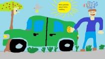 """""""Didžiuojuosi, kad moku plauti tėčio mašiną"""" Adomas, 1 klasė, Ukmergės r. Želvos gimnazija"""
