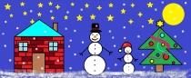 """""""Kalėdų naktį"""" Diana Geinc, 3 klasė, Glitiškių mokykla-darželis"""