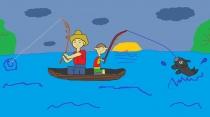 """""""Žvejyba su tėčiu"""" Gabrielius, 4 klasė, Kalvarijos sav. Jungėnų pagrindinė mokykla"""