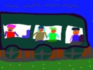 """""""Smagu važiuoti traukiniu"""" Livija Varanavičiūtė, 4 klasė, Radviliškio Vinco Kudirkos progimnazija"""