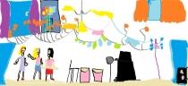 """""""Šokių pamoka"""" J. S., 1 klasė, Kauno Aleksandro Puškino gimnazija"""