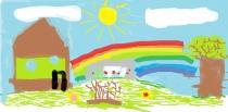 """""""Mano darbais išpuoselėta senelių  sodyba"""" Kasparas Liudavičius, 4 klasė, Vilniaus Žygimanto Augusto pagrindinė mokykla"""