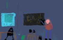 """""""Lietuvių kalbos pamokoje"""" Augustinas Kucharskis, 1 klasė, Kaišiadorių r. Žiežmarių mokykla-darželis """"Vaikystės dvaras"""""""
