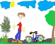"""""""Gerai važiuoju dviračiu"""", Bernardas, 1 klasė, Radviliškio r. Šeduvos gimnazija"""