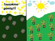 """""""Tausokime gamtą!"""" Anikė Jefremovaitė, 4 klasė, Vilniaus Simono Daukanto progimnazija"""