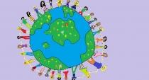 """""""Draugystė, meilė ir taika Žemėje"""" Ieva Mumgaudytė, 4 klasė, Šiaulių r. Gruzdžių gimnazija"""