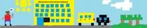 """""""Pakeliui į mokyklą"""" A. Ž., 1 klasė, Kėdainių r. Krakių Mikalojaus Katkaus gimnazija"""