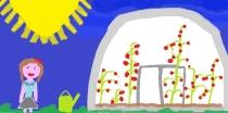 """""""Laisvalaikis vasarą"""" Enrika Britvinaitė, 3 klasė, Radviliškio r. Šeduvos gimnazija"""